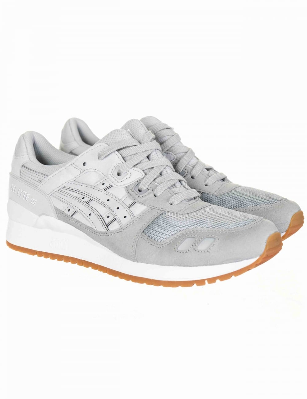 6ccfba1a11cd Asics Gel Lyte III Trainers - Mid Grey Glacier Grey - Footwear from ...