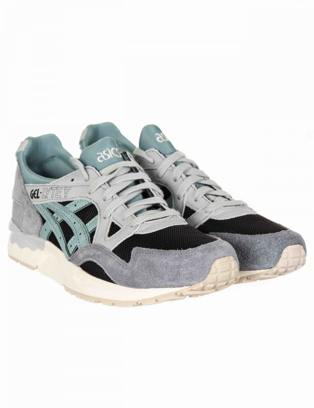 the latest fff29 a4f7c Gel Lyte V Trainers - Black/Blue Surf