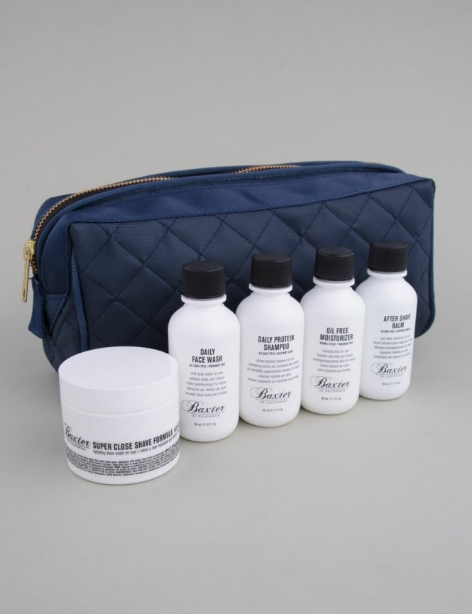 Baxter of California Travel Kit + Dopp Bag - Boxed Set