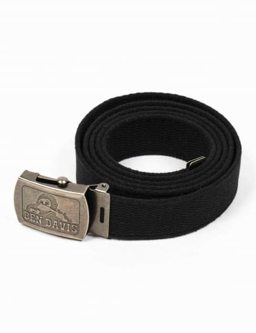 Classic Canvas Web Belt - Black