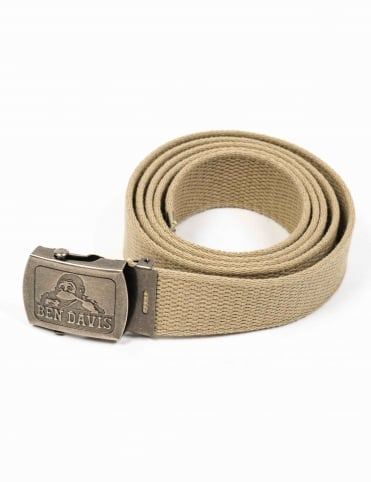 Classic Canvas Web Belt - Khaki