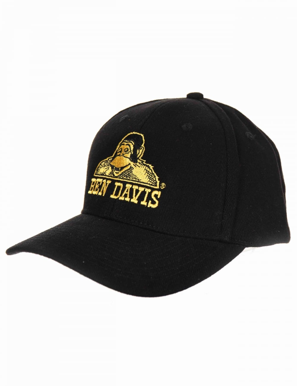 79204c94 Ben Davis Classic Logo Baseball Cap - Black/Gold - Hat Shop from Fat ...