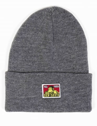 Classic Logo Beanie Hat - Heather Charcoal