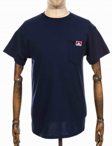 Classic Patch Logo Pocket Tee - Navy