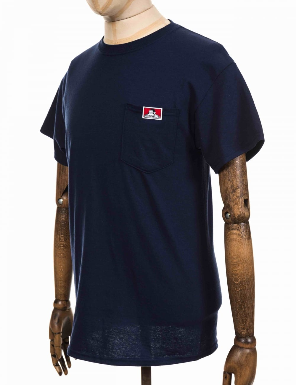 c0e1e61100 Ben Davis Classic Patch Logo Pocket Tee - Navy - Clothing from Fat ...