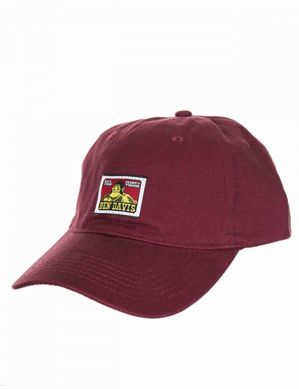 ec3cc189fed Ben Davis Patch Logo Twill Strap Back Cap - Maroon - Accessories ...