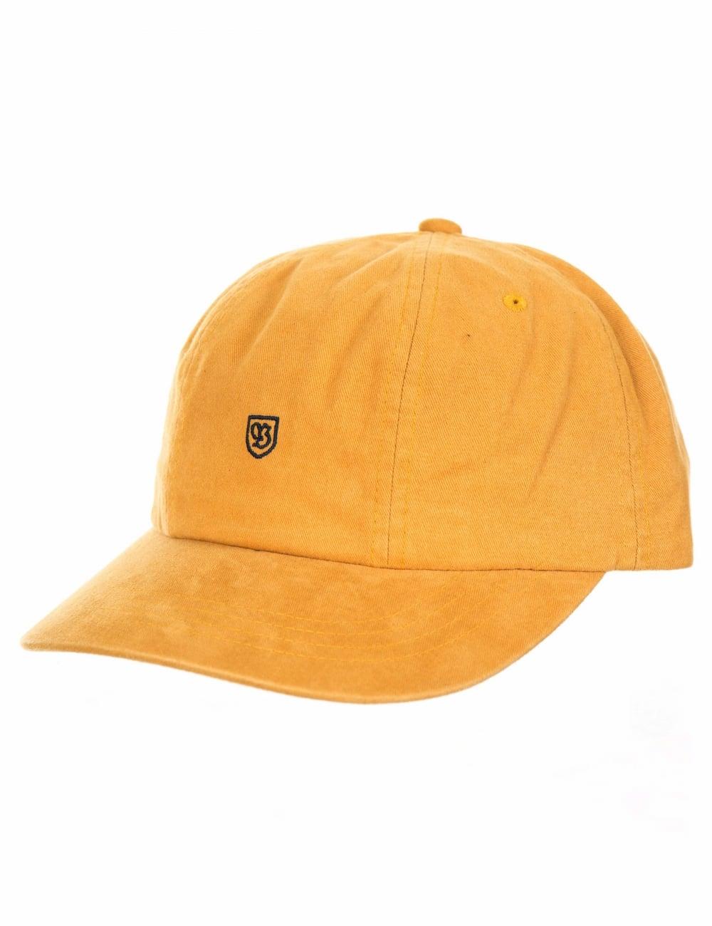 Brixton B-Shield Cap - Gold - Accessories from Fat Buddha Store UK 90f022f0578