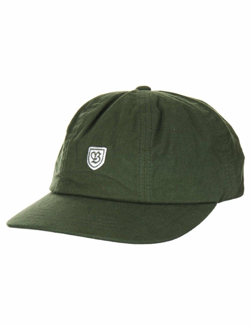 Brixton B-Shield III Cap - Leaf - Accessories from Fat Buddha Store UK 6f0a2f3c4ad
