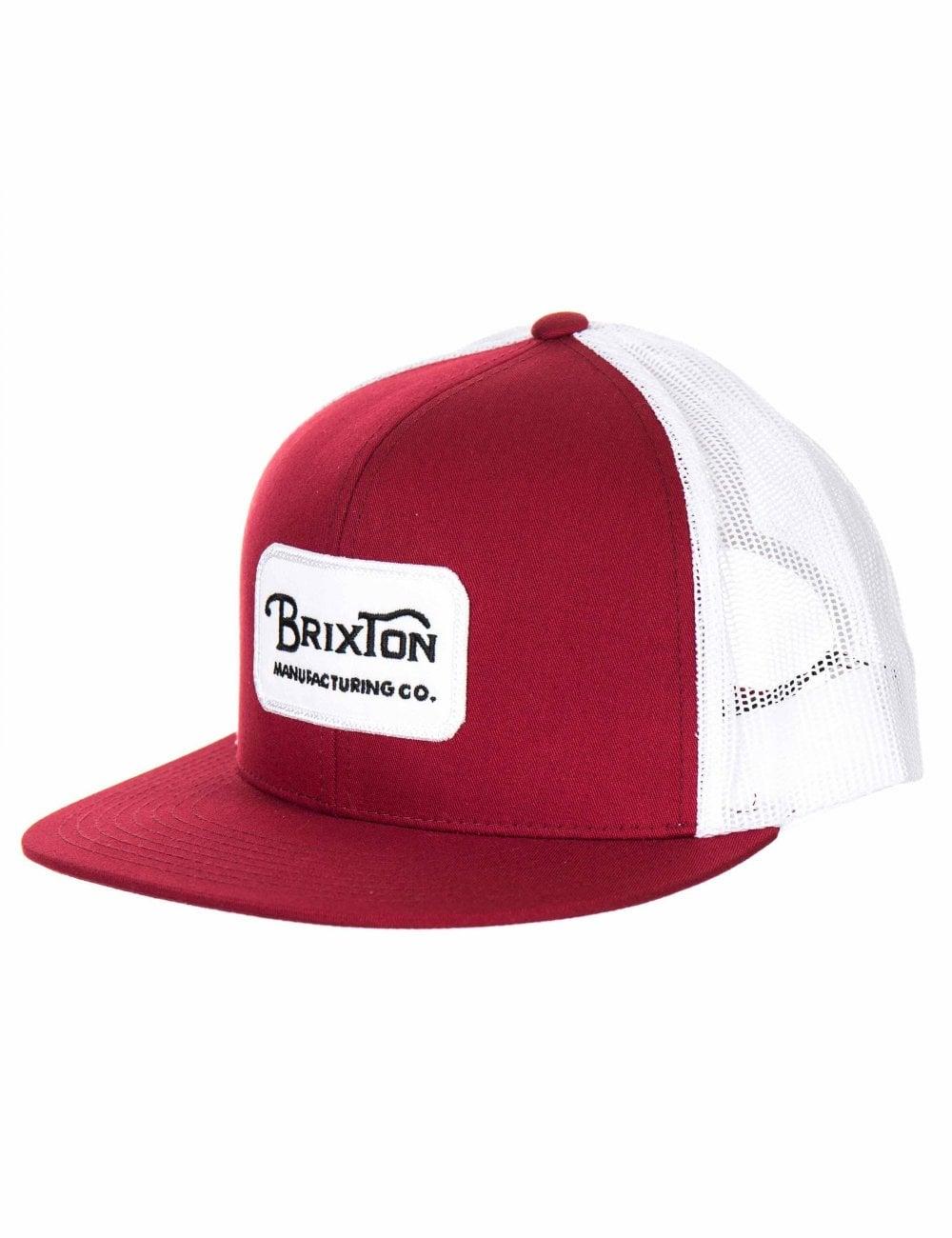 c3ce5c76e2a Brixton Grade Mesh Trucker Hat - Burgundy/White - Accessories from ...