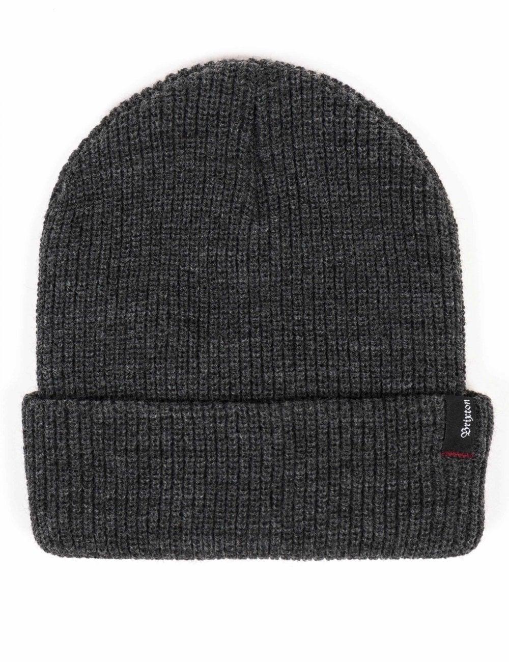 Brixton Heist Beanie Hat - Heather Grey - Accessories from Fat ... 33ce0f5d5f08