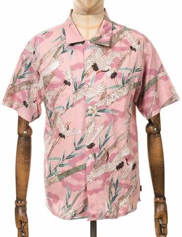 40a33e5916611 Brixton S S Lovitz II Woven Shirt - Dusty Pink