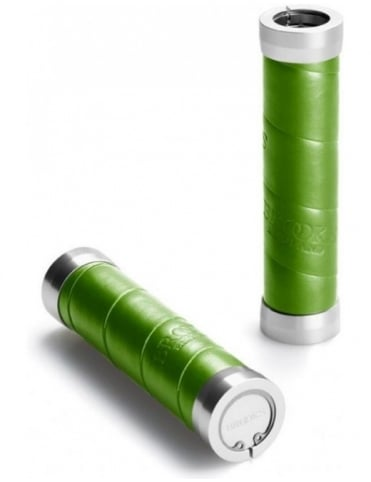 Brooks England Slender Leather Grips - Apple Green