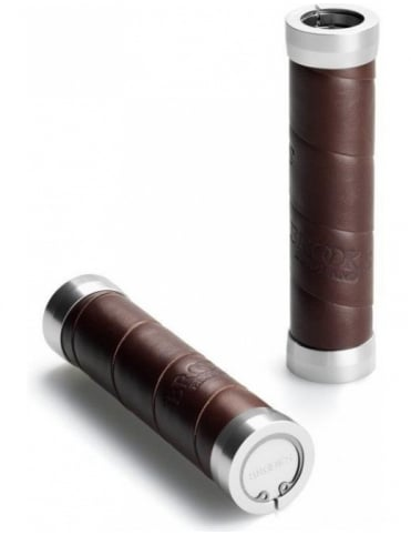 Brooks England Slender Leather Grips - Brown