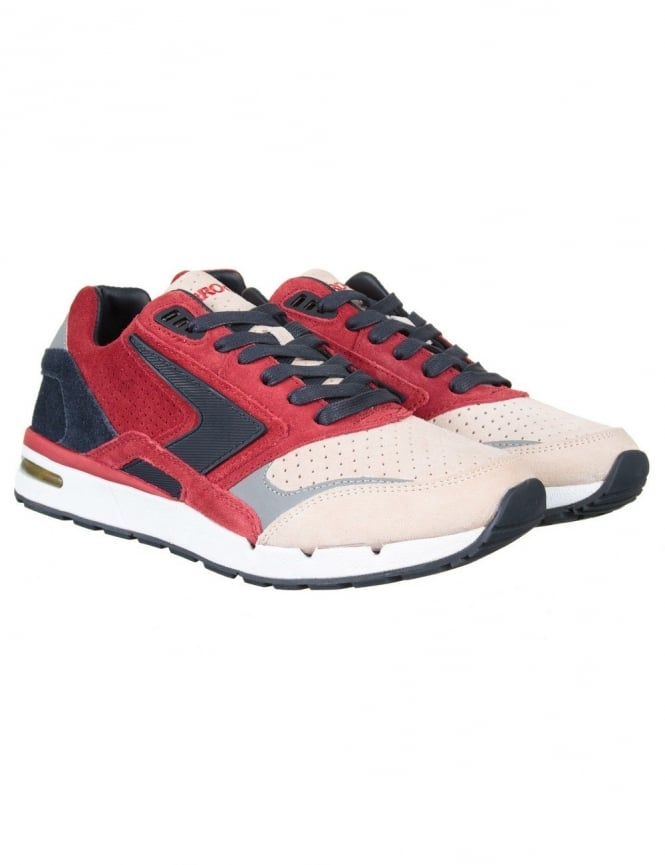 Brooks Heritage X Ubiq Fusion Shoe - Jester Red/Dark Navy