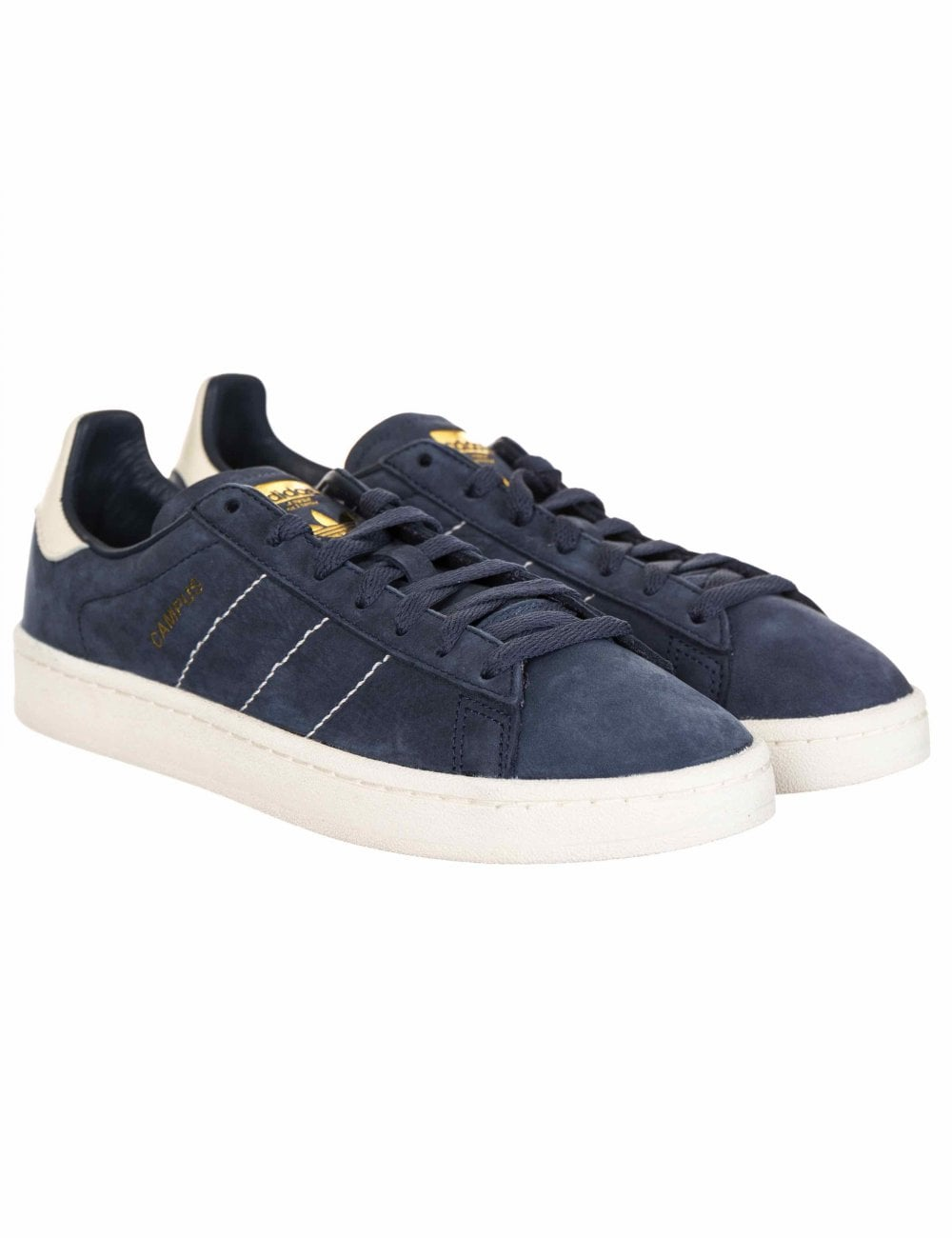 first rate b4241 837bc Adidas Originals Campus Trainers - Trace BlueWhiteGold - Footwear from  Fat Buddha Store UK
