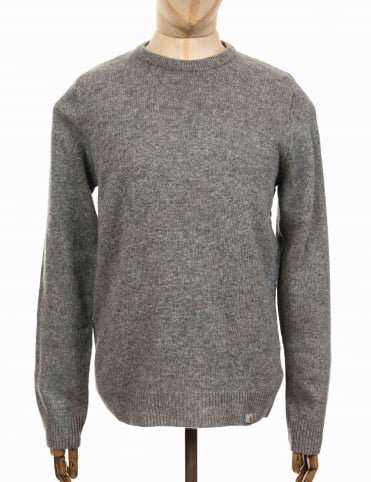 Allen Knit Sweater - Grey Heather