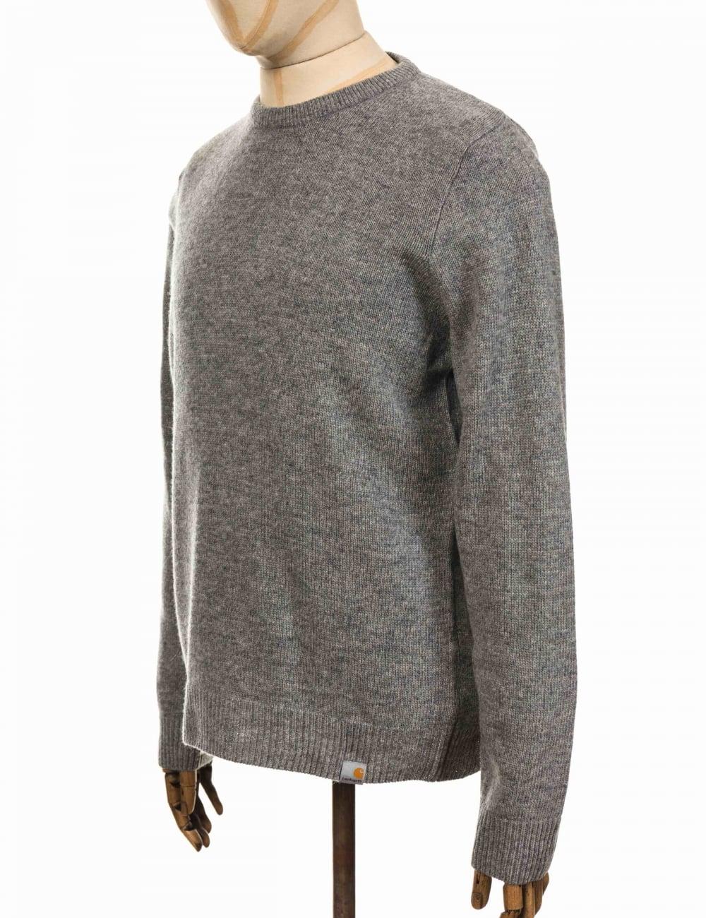 Allen Knit Sweater Grey Heather
