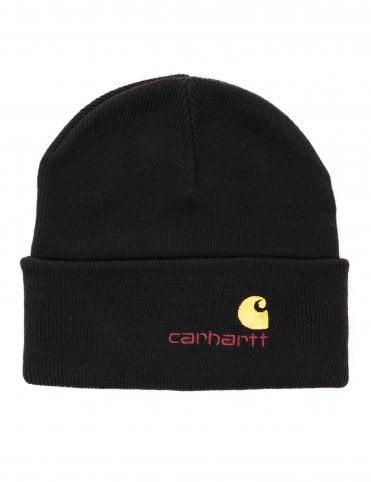 018cf21fe47 Carhartt WIP American Script Beanie - Black