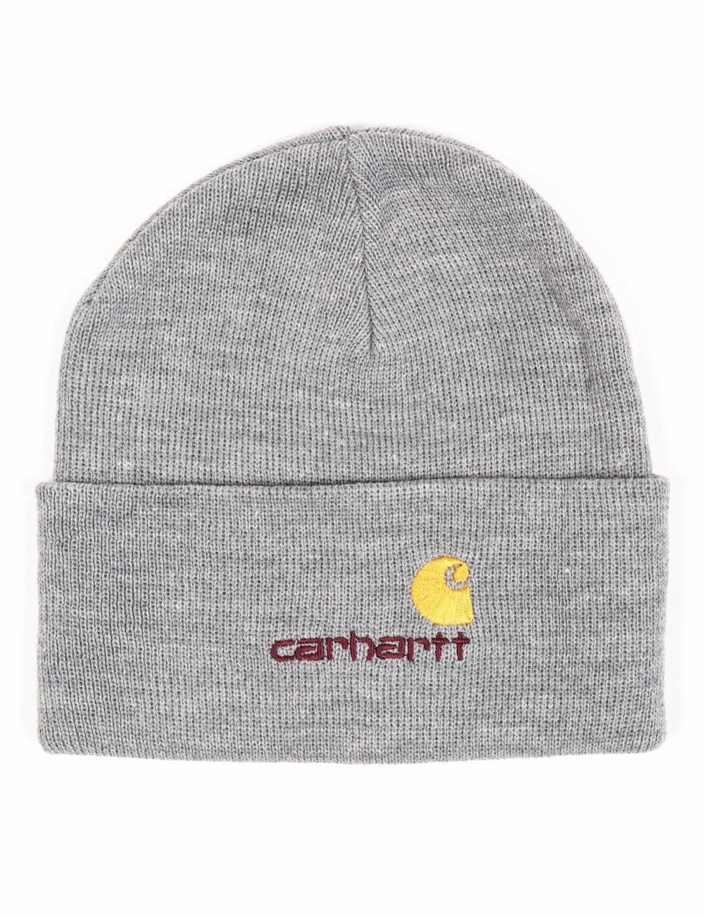 34802d75400 Carhartt WIP American Script Beanie - Grey Heather - Accessories ...