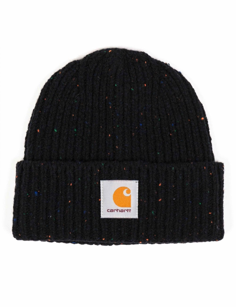 Carhartt WIP Anglistic Beanie Hat - Black Heather - Accessories from ... 75c9392c047