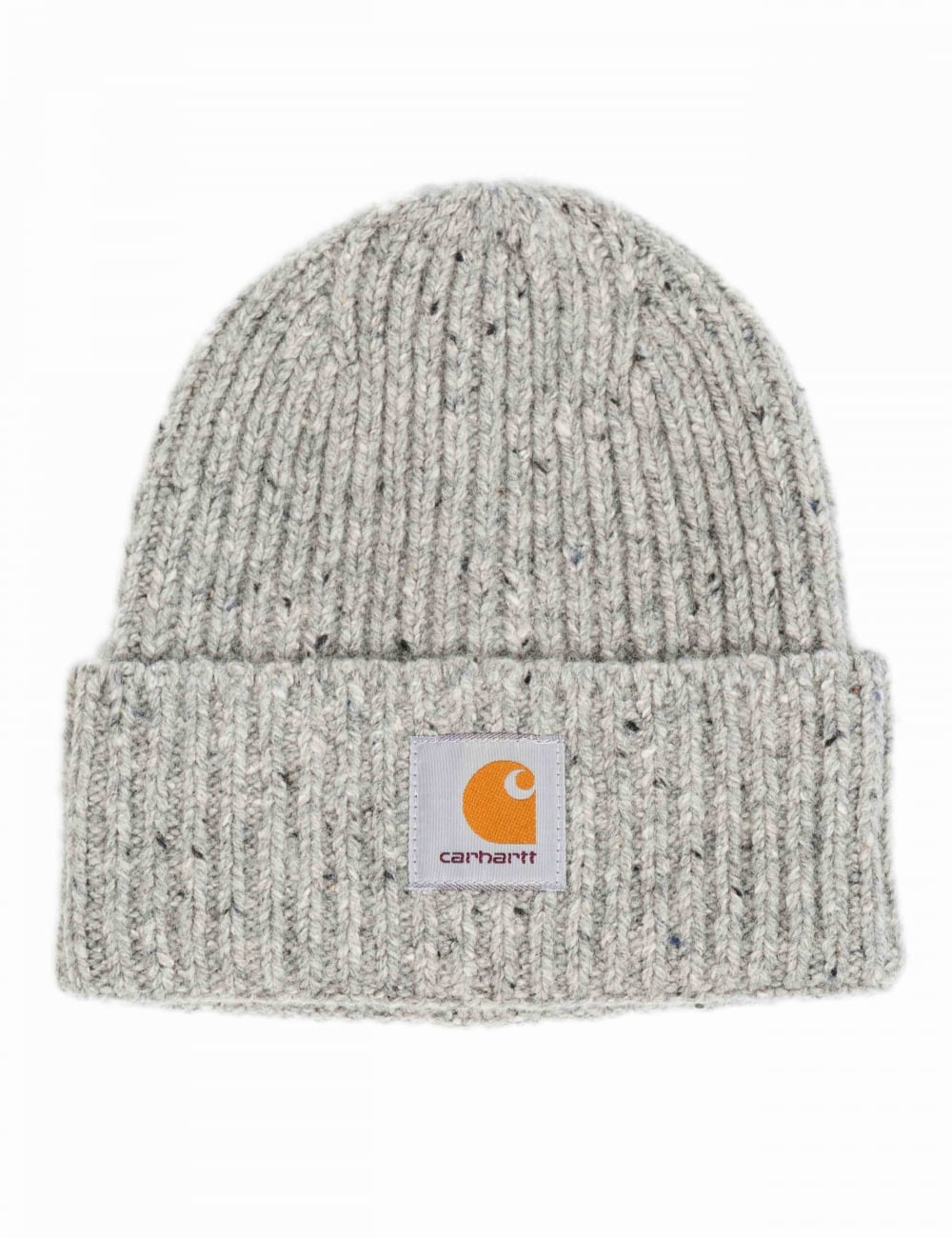 Carhartt WIP Anglistic Beanie Hat - Heather Grey - Accessories from ... b3f34c3e9da