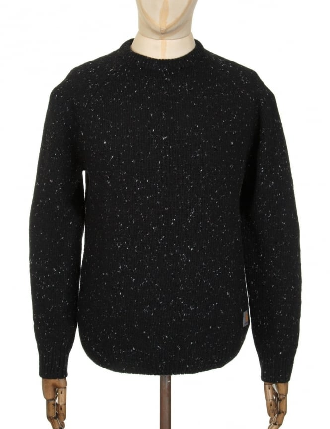Carhartt Anglistic Knit Jumper - Black Heather