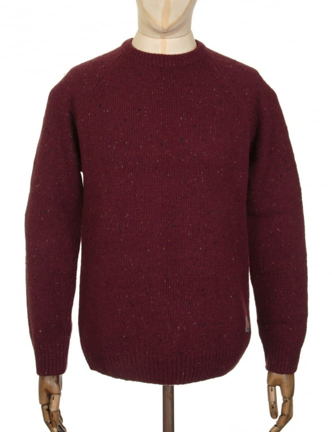 Carhartt Anglistic Knit Jumper - Chianti Heather