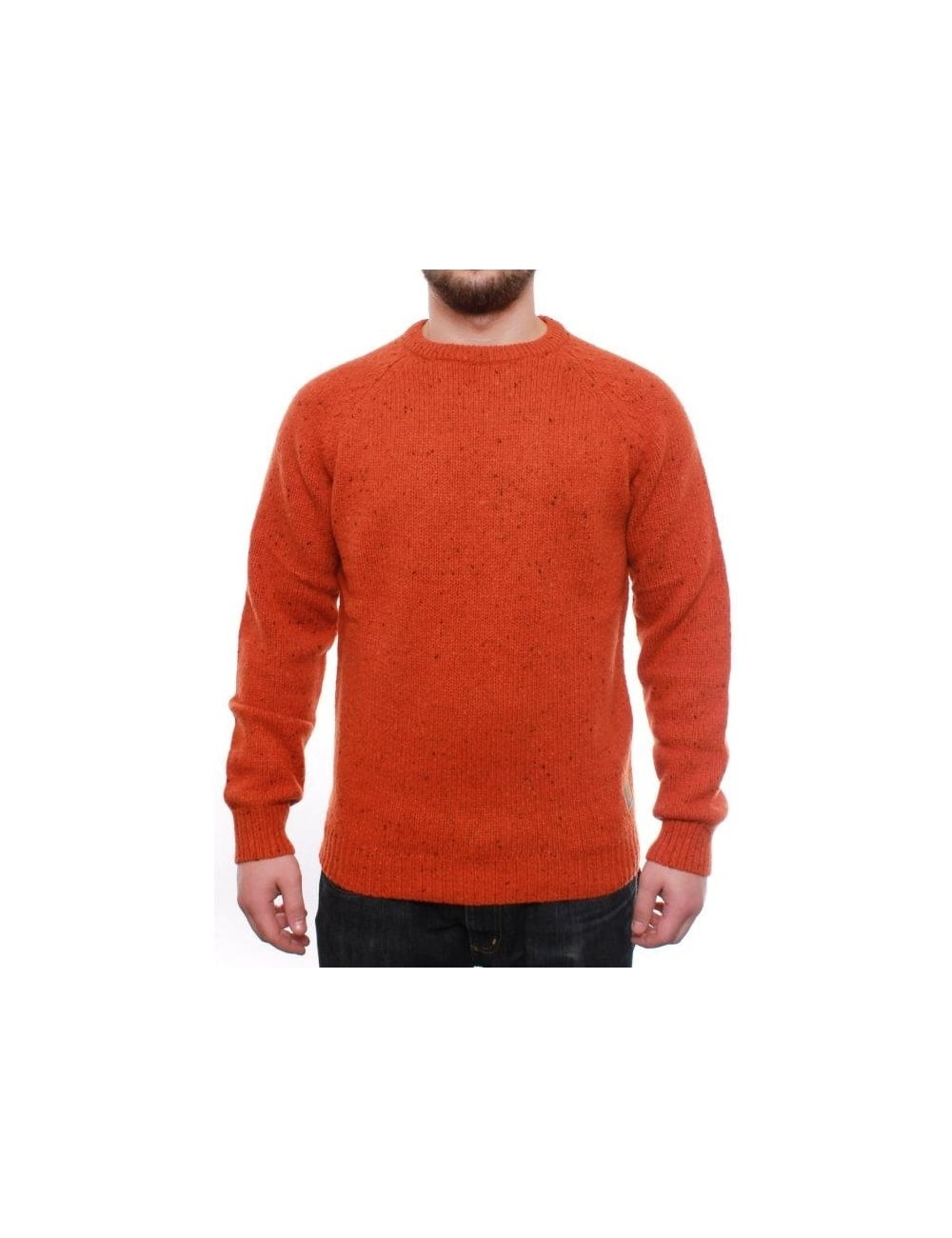 c2aedc7bdfd0e Carhartt WIP Anglistic Sweater - Cadmium Heather - Clothing from Fat ...