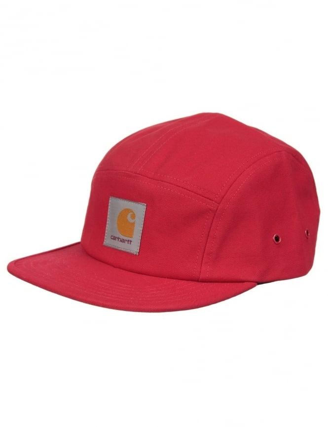 Carhartt Backley 5 Panel Hat - Fire Red