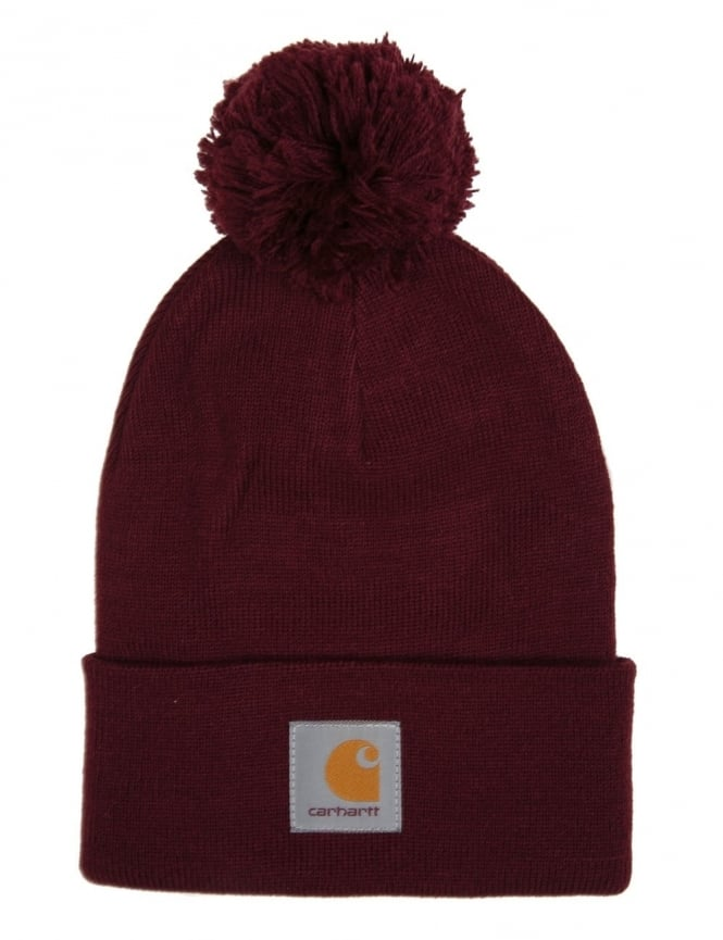 Carhartt Bobble Watch Hat - Chianti Heather