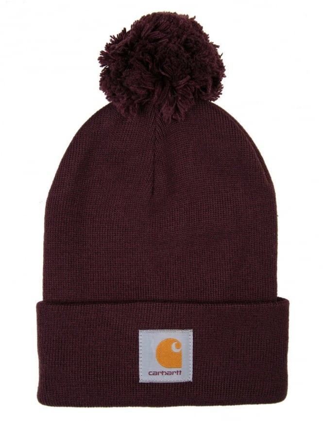 Carhartt Bobble Watch Hat - Damson