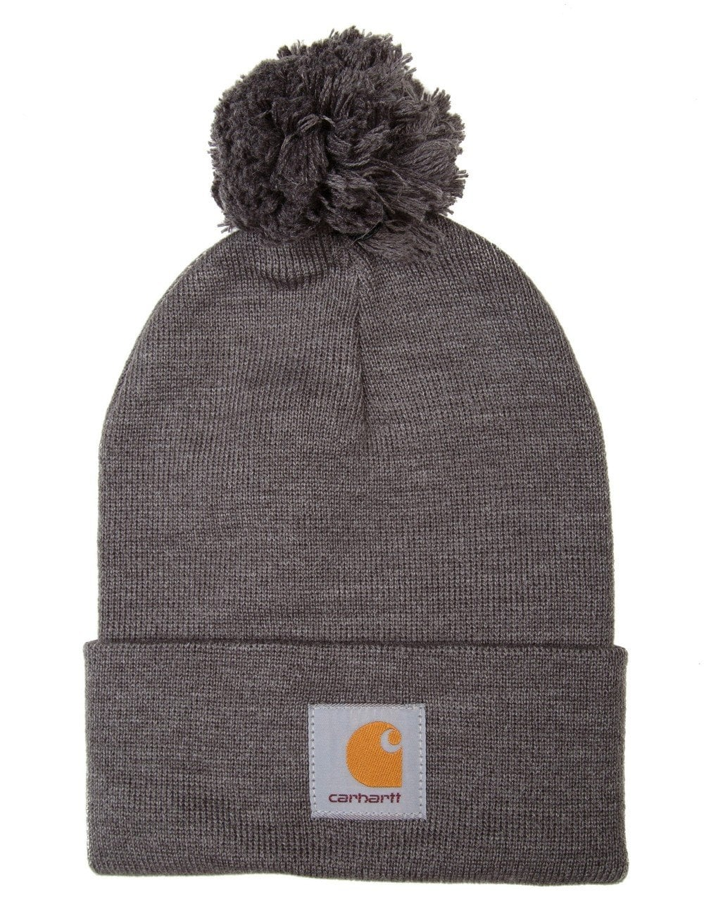 Carhartt WIP Bobble Watch Hat - Dark Grey Heather - Accessories from ... a42e336285a6