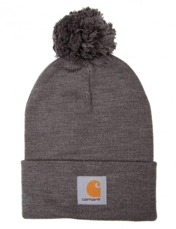 Carhartt Bobble Watch Hat - Dark Grey Heather