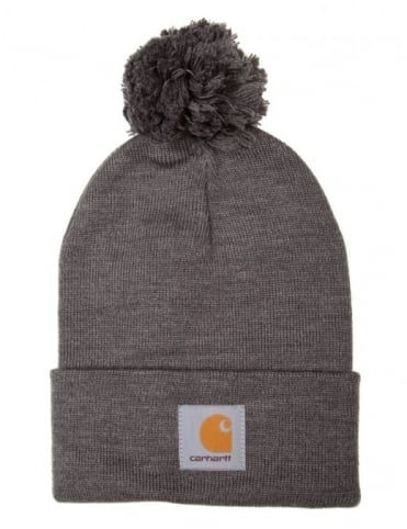 Carhartt Bobble Watch Hat - Dark Grey Heather