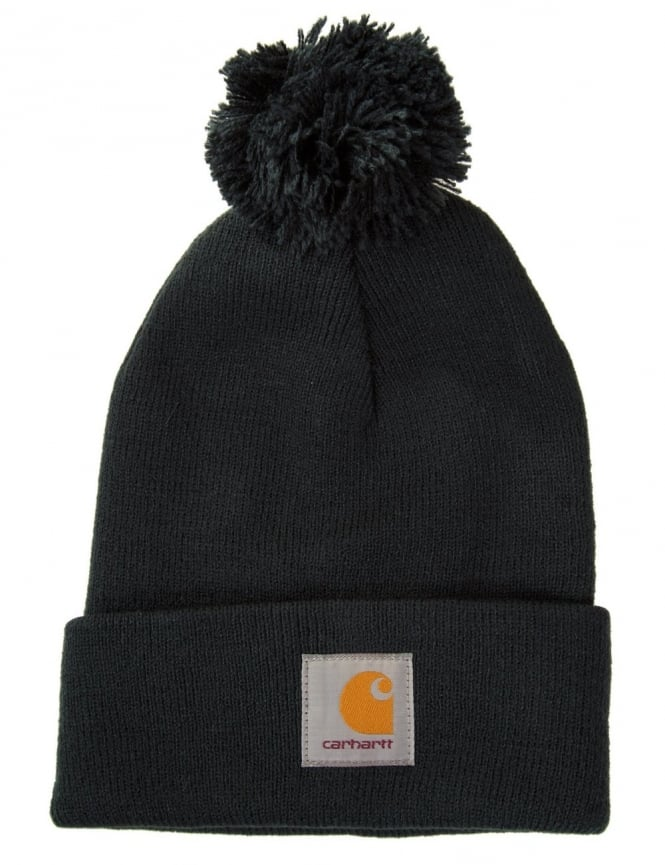 Carhartt Bobble Watch Hat - Dark Petrol