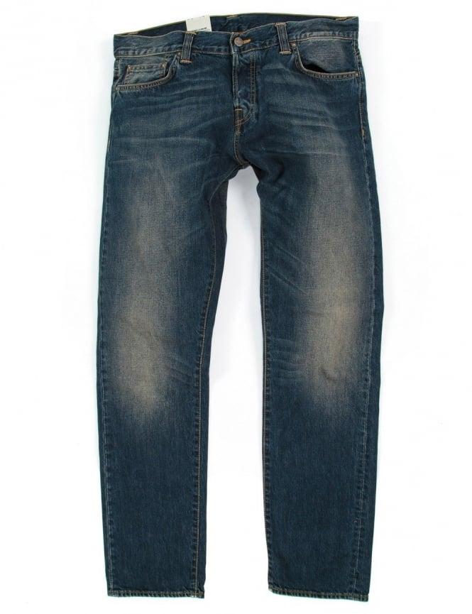 Carhartt Buccaneer Pant - Blue Strand Wash (Hanford Denim)