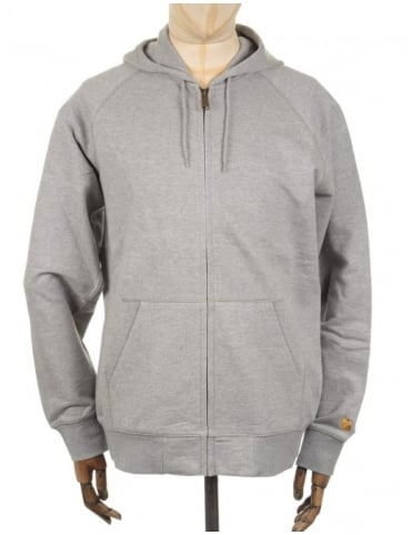 Carhartt Chase Hooded Jacket - Heather Grey