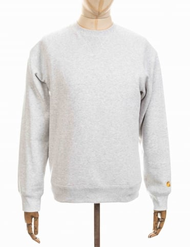 Carhartt Chase Sweatshirt - Ash Heather