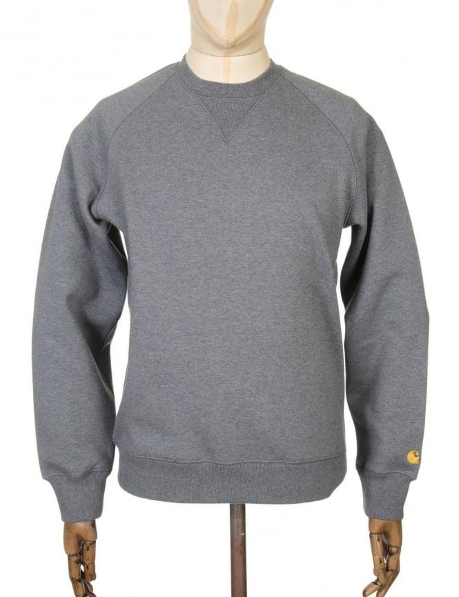 Carhartt Chase Sweatshirt - Dark Grey Heather