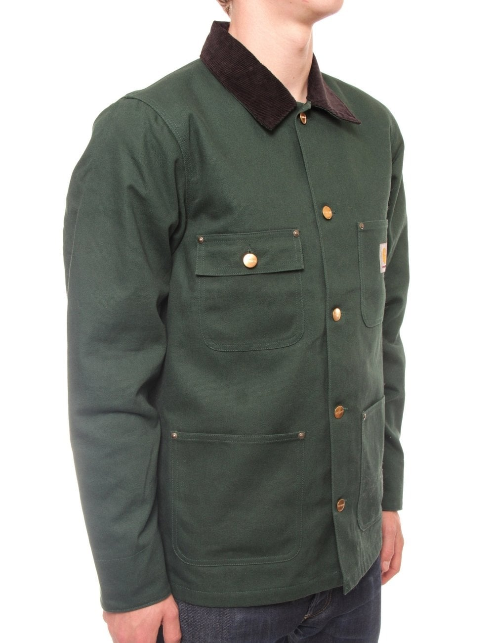 c52d0168db4 Carhartt WIP Chore Coat - Bottle Green Rigid - Clothing from Fat ...