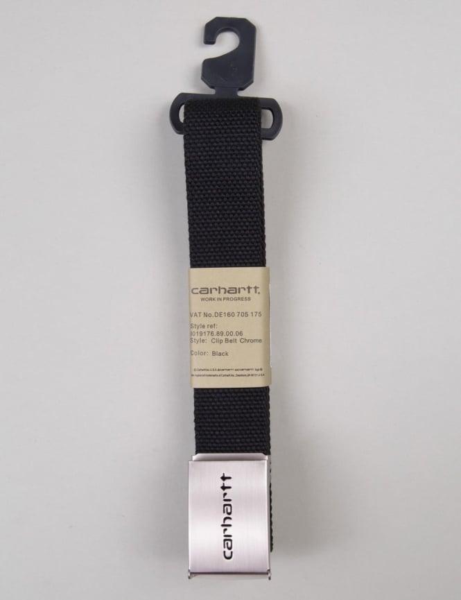 Carhartt Clip Belt Chrome - Black
