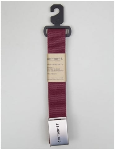 Carhartt Clip Belt Chrome - Chianti