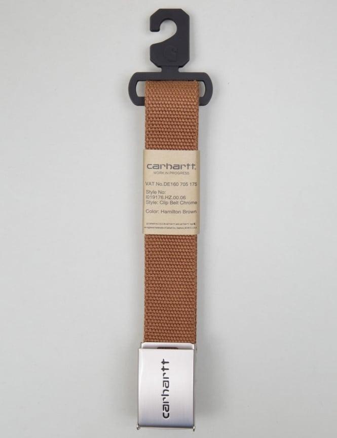 Carhartt Clip Belt Chrome - Hamilton Brown