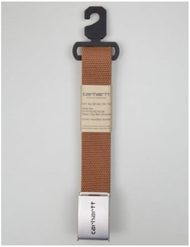 Clip Belt Chrome - Hamilton Brown