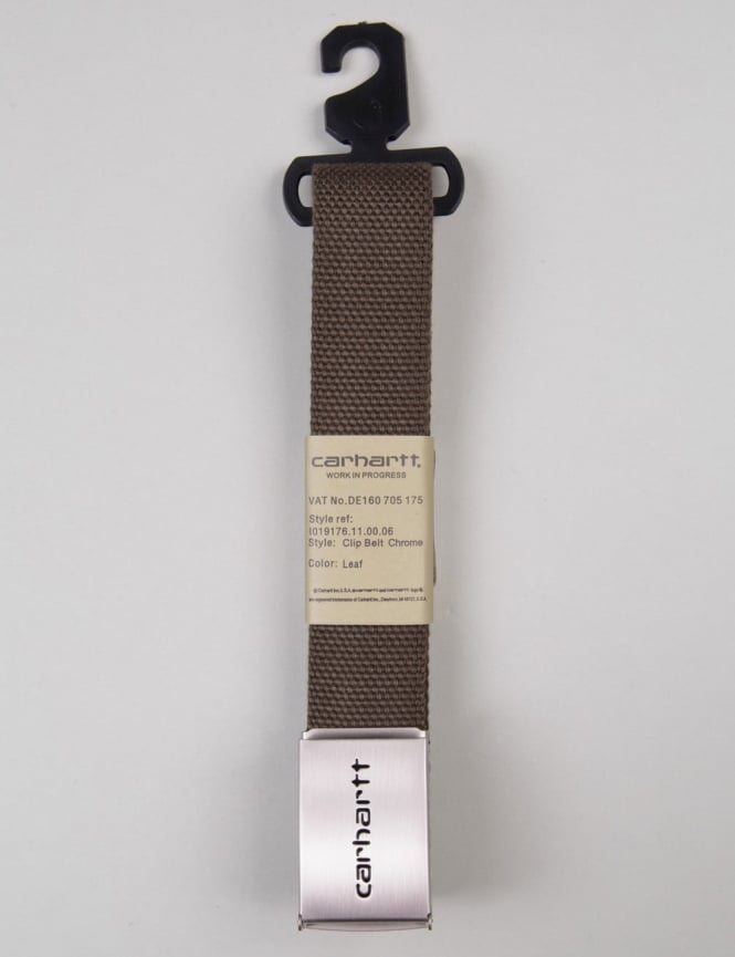 Carhartt Clip Belt Chrome - Leaf
