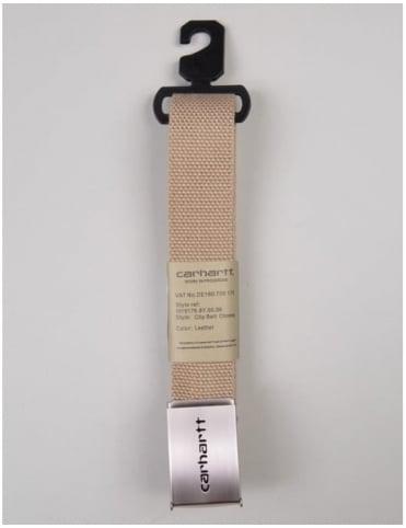 Carhartt Clip Belt Chrome - Leather