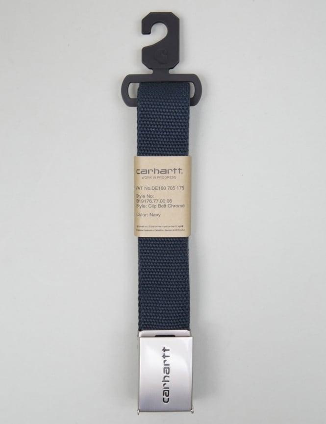 Carhartt Clip Belt Chrome - Navy
