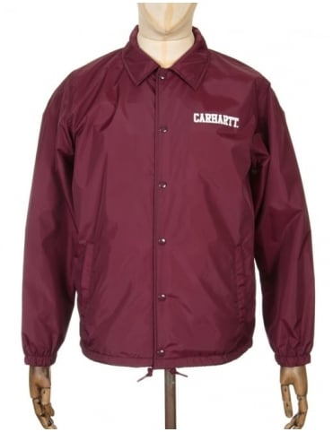 College Coach Jacket - Chianti