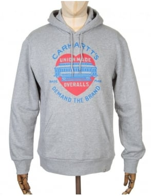 Carhartt Demand Hooded Sweatshirt - Heather Grey