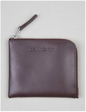 Carhartt Half Zip Leather Wallet - Brown